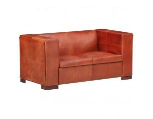 Canapea cu 2 locuri, maro...
