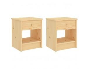Noptiere, 2 buc., lemn...