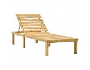 Sezlong de gradina, lemn de...