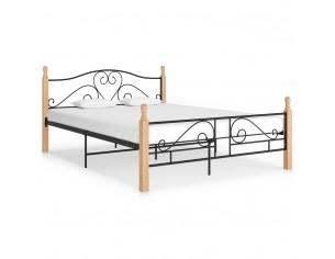Cadru de pat, negru, 140 x...