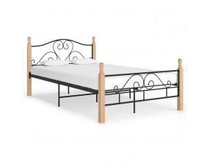 Cadru de pat, negru, 120 x...