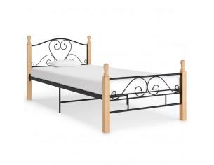 Cadru de pat, negru, 90 x...