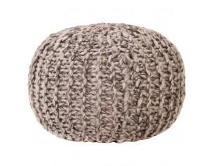 Puf tricotat manual, textil...