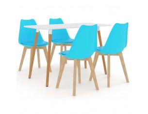 Set de masa, 5 piese, albastru