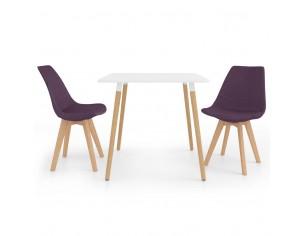 Set de masa, 3 piese, violet