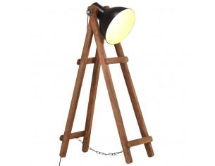 Lampa de podea, negru, lemn...