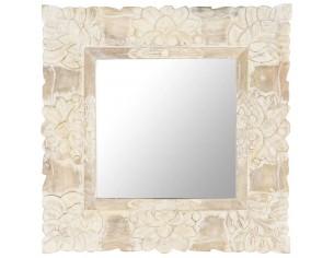 Oglinda alba 50x50 cm, lemn...