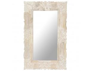 Oglinda alba 80x50 cm, lemn...