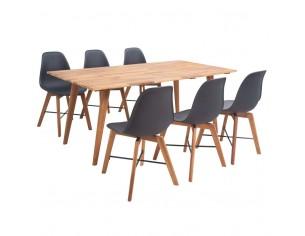Set masa si scaune din lemn...