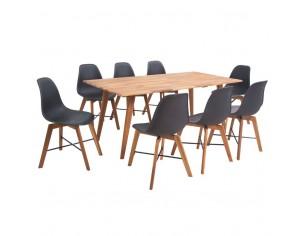 Set masa cu scaune din lemn...