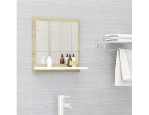 Oglinda de baie, alb/stejar...
