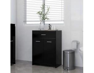 Dulap de baie, negru, 60 x...