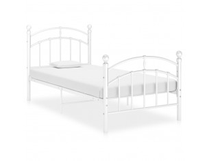 Cadru de pat, alb, 90x200...