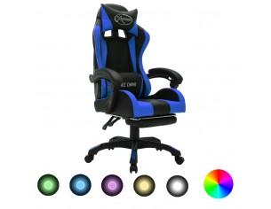 Scaun de jocuri cu LED RGB,...