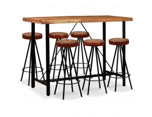 Set bar, 7 piese, lemn...