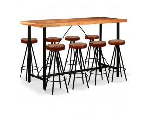 Set bar, 9 piese, lemn...