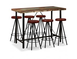7 piese Set de bar, lemn...
