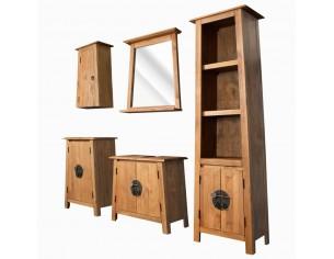 Set de baie 5 piese, lemn...