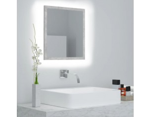 Oglinda de baie cu LED, gri...