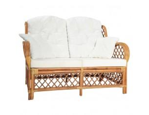 Canapea de 2 locuri, maro...