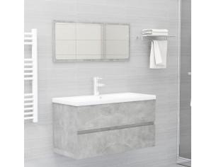 Set mobilier de baie, gri...