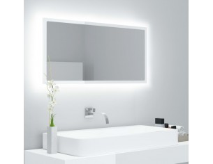 Oglinda de baie cu LED, alb...