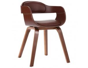 Scaun de masa, maro, lemn...