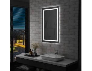 Oglinda cu LED de baie cu...