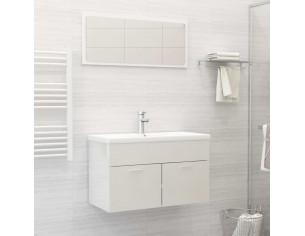 Set mobilier de baie, alb...