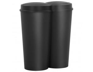 Cos de gunoi dublu, negru,...