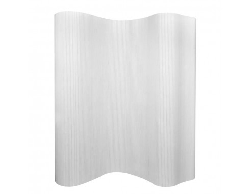 Paravan de camera din bambus, alb,...