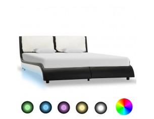 Cadru de pat cu LED, negru...