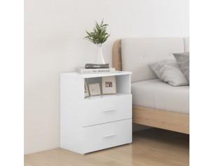 Noptiera, alb, 50x32x60 cm