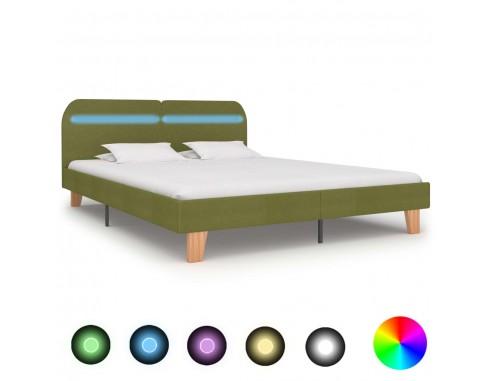 Cadru de pat cu LED-uri, verde, 160 x...