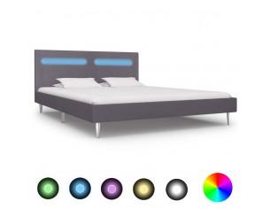 Cadru de pat cu LED-uri,...