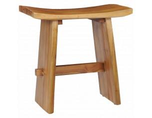 Taburet, lemn masiv de tec