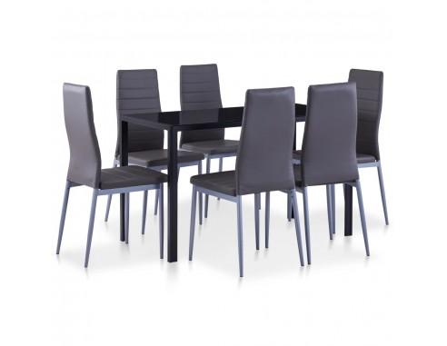 Set mobilier de bucatarie, 7 piese, gri