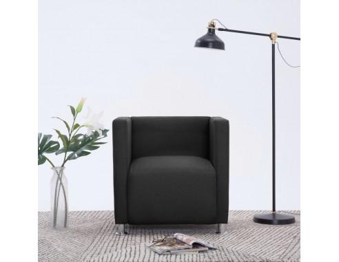 Fotoliu cubic, negru, material textil