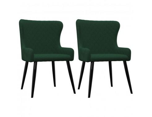 Scaune de sufragerie, 2 buc., verde,...