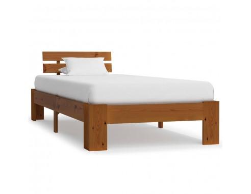 Cadru de pat, maro miere, 90 x 200...