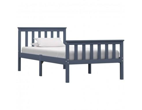 Cadru de pat, gri, 100 x 200 cm, lemn...