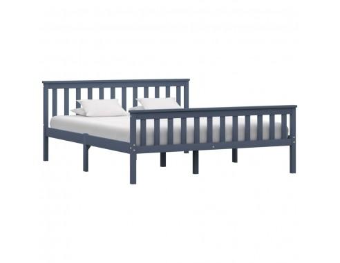 Cadru de pat, gri, 160 x 200 cm, lemn...