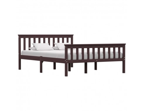 Cadru de pat, maro inchis, 140 x 200...