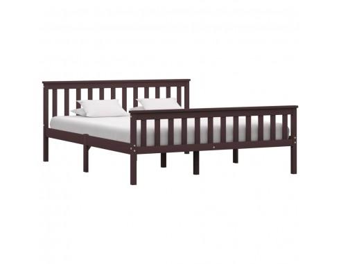 Cadru de pat, maro inchis, 160 x 200...