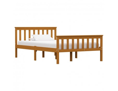 Cadru de pat, maro miere, 120 x 200...
