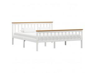 Cadru de pat, alb, 160 x...
