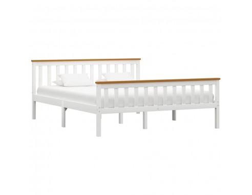 Cadru de pat, alb, 160 x 200 cm, lemn...