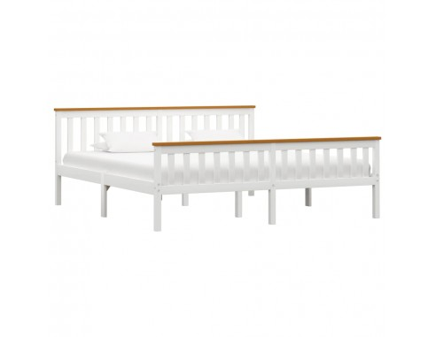 Cadru de pat, alb, 180 x 200 cm, lemn...