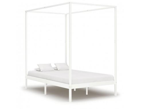 Cadru pat cu baldachin, alb, 140 x...