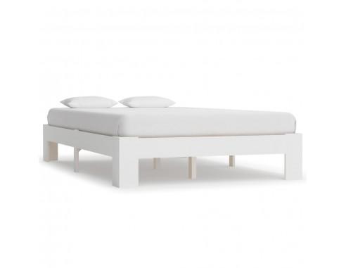 Cadru de pat, alb, 120 x 200 cm, lemn...